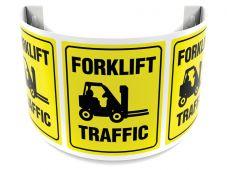 - 180D Projection™ Sign: Forklift Traffic