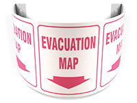 evacuation - 180D Projection™ Sign: Evacuation Map