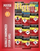 - Safety Posters: Globally Harmonized System - 12 Pack