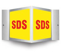 - Brushed Aluminum 3D Projection™ Sign: SDS
