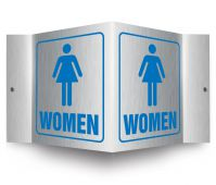 - Brushed Aluminum 3D Projection™ Sign: Women