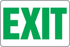 - Safety Sign: Exit (Green)