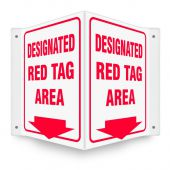 - 3D Projection™ Sign: Designated Red Tag Area
