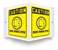 - OSHA Caution Projection™ Sign: Door Swings Open