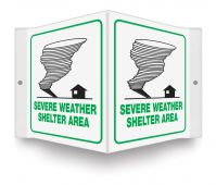 - Projection™ Emergency Shelter Signs: Severe Weather Shelter Area
