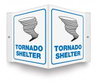 - Projection™ Safety Sign: Tornado Shelter (Graphic)