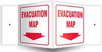 evacuation - Projection™ Sign: Evacuation Map
