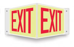 - Glow-In-The-Dark Projection™ Sign: Exit
