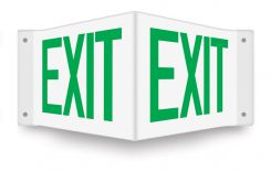 - Projection™ Sign: Exit
