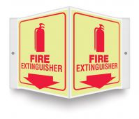 - Glow Projection™ Sign: Fire Extinguisher