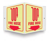 - Glow-In-The-Dark Projection™ Sign: Fire Hose (Symbol)