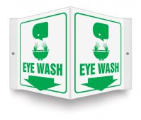 - Projection™ Safety Sign: Eye Wash
