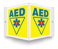 - Projection™ Sign: AED (Yellow)