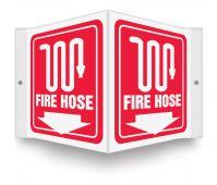 - Projection™ Sign: Fire Hose (Symbol)