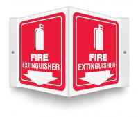 - Projection™ Sign: Fire Extinguisher (White/Red)