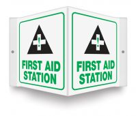 - Projection™ Sign: First Aid Station