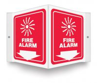 - Projection™ Safety Sign: Fire Alarm (Graphic And Down Arrow)
