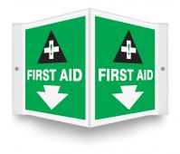 - Projection™ Safety Sign: First Aid
