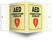 - Glow Projection™ Sign: AED - Automated External Defibrillator