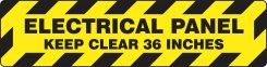 - Slip-Gard™ Step-Style Floor Sign: Electrical Panel - Keep Clear 36 Inches