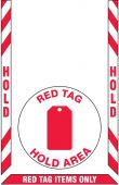- Slip-Gard™ Floor Marking Kit: Red Tag Hold Area