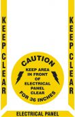 - Slip-Gard™ Floor Marking Kit: Keep Clear - Electrical Panel 36 inches