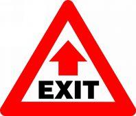 - SLIP-GARD™ TRIANGLE FLOOR SIGNS - EXIT
