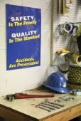 - Safety Posters: Safety Is The Priority - Quality Is The Standard - Accidents Are Preventable