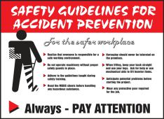 - Safety Posters: Safety Guidelines For Accident Prevention