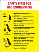 - Safety Posters: Safety First For Fire Extinguishers