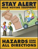 - The Simpsons™ Safety Posters: Stay Alert Near Moving Equipment