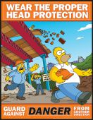 - The Simpsons™ Safety Posters: Wear The Proper Head Protection