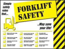- Safety Posters: Forklift Safety - Simple Safety Rules That May Save Your Life