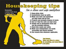 - Safety Sign: Housekeeping Tips For A Clean And Safe Work Environment
