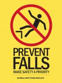 - Motivational Poster: Prevent Falls - Make Safety A Priority (National Safety Stand-Down 2019 Yellow)