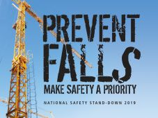 - Motivational Poster: Prevent Falls - Make Safety A Priority (National Safety Stand-Down 2019 Blue)