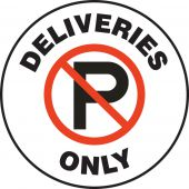 - Pavement Print Sign: Deliveries Only
