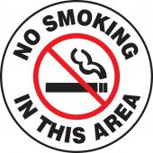 - Pavement Print Sign: No Smoking In This Area