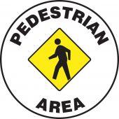 - Pavement Print Sign: Pedestrian Area