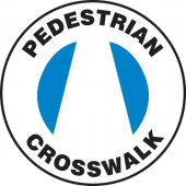 - Pavement-Print Sign: Pedestrian Crosswalk