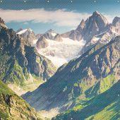 - ONE-WAY™ Printed Welding Screens: Mountain Image