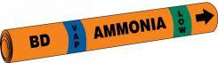 - IIAR Snap Tite™ Ammonia Pipe Marker: BD/VAP/LOW