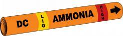- IIAR Snap Tite™ Ammonia Pipe Marker: DC/LIQ/HIGH