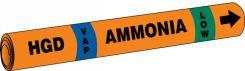 - IIAR Snap Tite™ Ammonia Pipe Marker: HGD/VAP/LOW