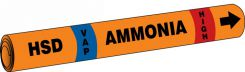- IIAR Snap Tite™ Ammonia Pipe Marker: HSD/VAP/HIGH