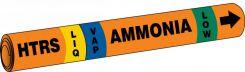 - IIAR Snap Tite™ Ammonia Pipe Marker: HTRS/LIQ/VAP/LOW