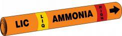 - IIAR Snap Tite™ Ammonia Pipe Marker: LIC/LIQ/HIGH