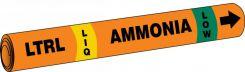 - IIAR Snap Tite™ Ammonia Pipe Marker: LTRL/LIQ/LOW