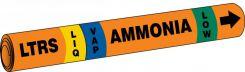 - IIAR Snap Tite™ Ammonia Pipe Marker: LTRS/LIQ/VAP/LOW