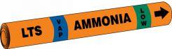 - IIAR Snap Tite™ Ammonia Pipe Marker: LTS/VAP/LOW